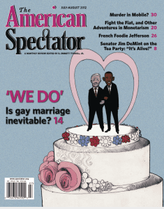 American Spectator cover July/August 2012
