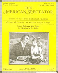 American Spectator magazine cover, Jan. 1985