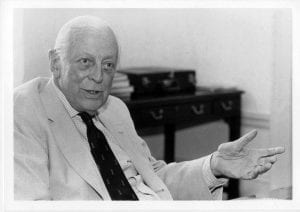 Sir Alistair Cooke at The Mount Washington, Bretton Woods, August 27, 1988.