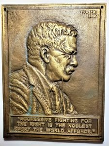 Teddy Roosevelt Bronze plaque - Fraser 1920