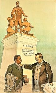 TR statue cartoon -- TR, Booker T Washington, Lincoln. KEPPLER 1903 (2)