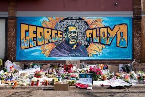 George Floyd Mural in Minneapolis (Lorie Schaull/Wikimedia Commons) spectator.org