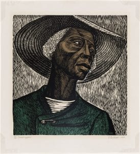 Sharecropper, 1952, Elizabeth Catlett, Photograph © Museum of Fine Arts, Boston
