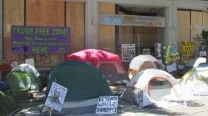 Scene in Seattle's CHOP (Mike Howard)