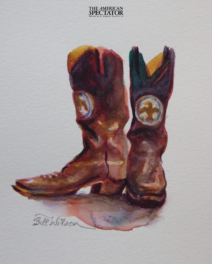 The Governor's Boots painting, 2019 (Bill Wilson Studio)