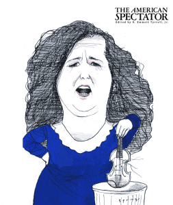 Lorena Gonzalez caricature by John Springs for The American Spectator