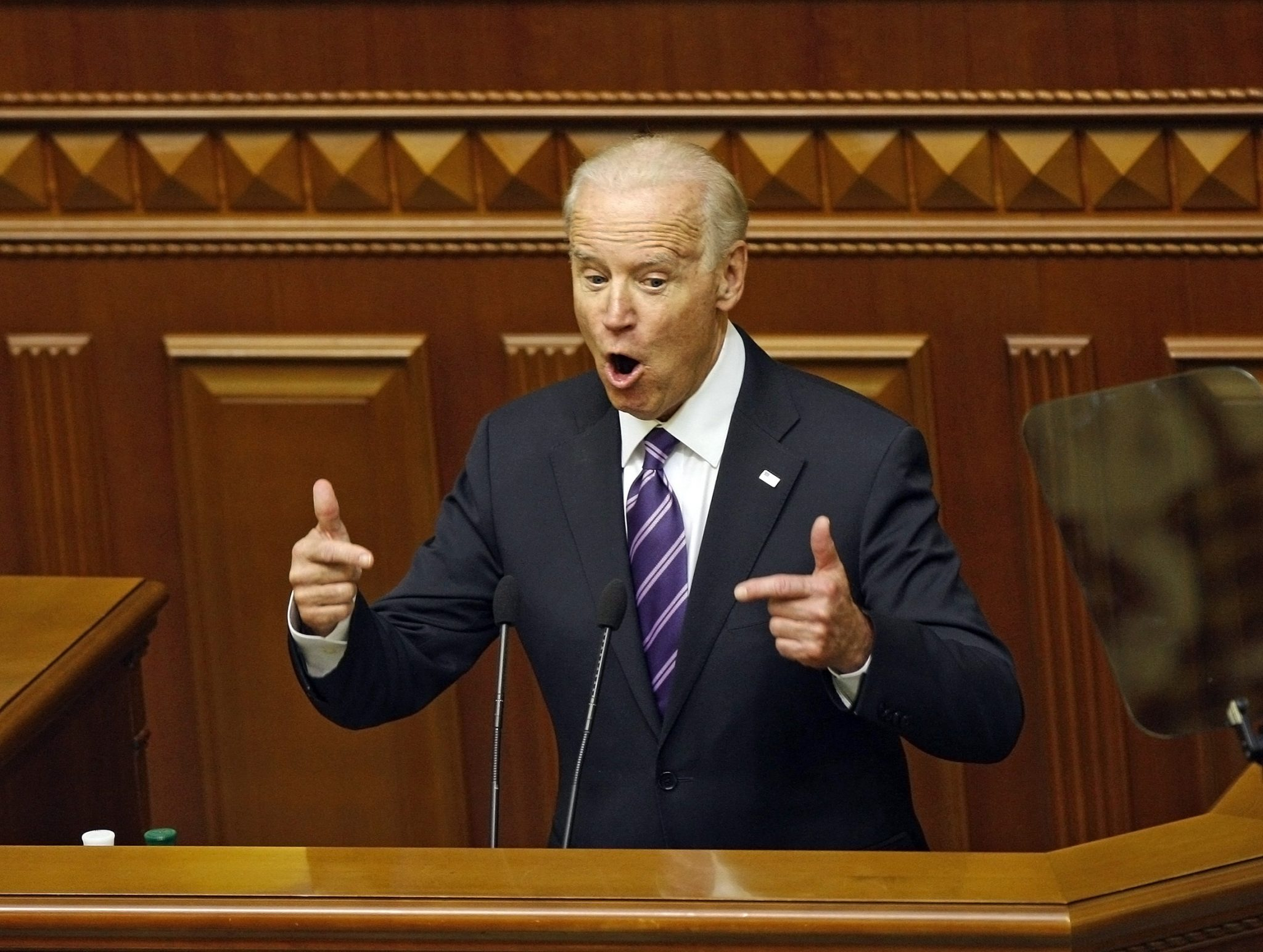 Joe Biden addressing Ukrainian parliament on Dec. 8, 2015 (viewimage/Shutterstock.com)