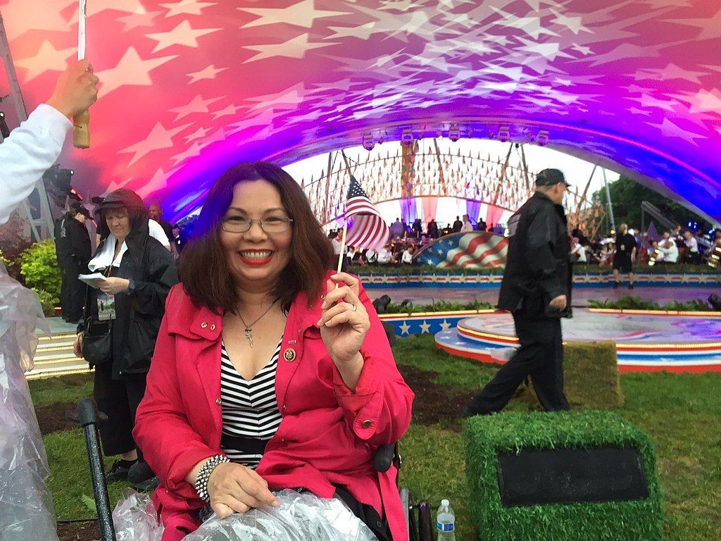 Then-Rep. Tammy Duckworth on Memorial Day 2016 (Wikimedia Commons) spectator.org