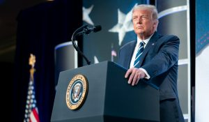Trump at Council for National Policy Meeting, Aug. 21, 2020 (Tia Dufour/Official White House photo) spectator.org
