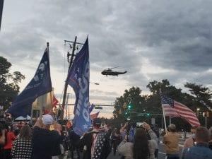 Trump helicopter leaves Walter Reed (Hannah Rowan) spectator.org