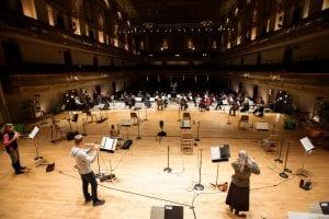The BSO in music rehearsal, Oct. 28, 2020 (Aram Boghosian) spectator.org