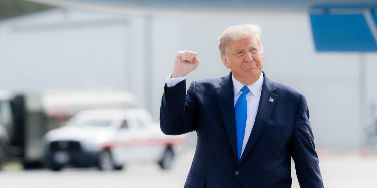 President Trump in Greenville, S.C., Oct. 15, 2020 (Shealah Craighead/Official White House Photo) spectator.org