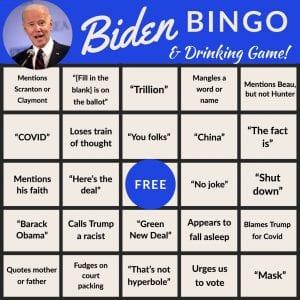 Biden Debate Bingo 3, The American Spectator, spectator.org
