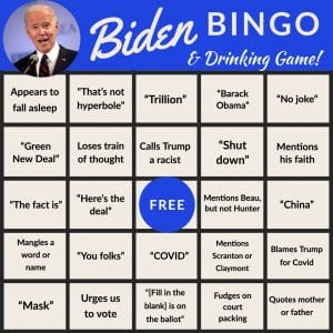 Biden Debate Bingo 2, The American Spectator, spectator.org