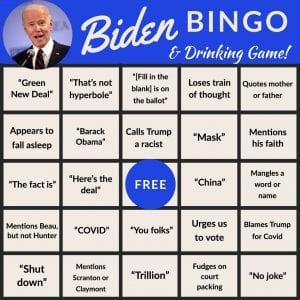 Biden Debate Bingo 1, The American Spectator, spectator.org