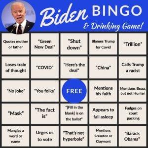 Biden Debate Bingo 4, The American Spectator, spectator.org