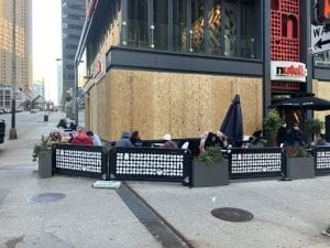 Chicago Nando's, boarded up (Nic Rowan) spectator.org