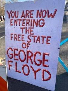 George Floyd sign, Minneapolis (Nic Rowan) spectator.org