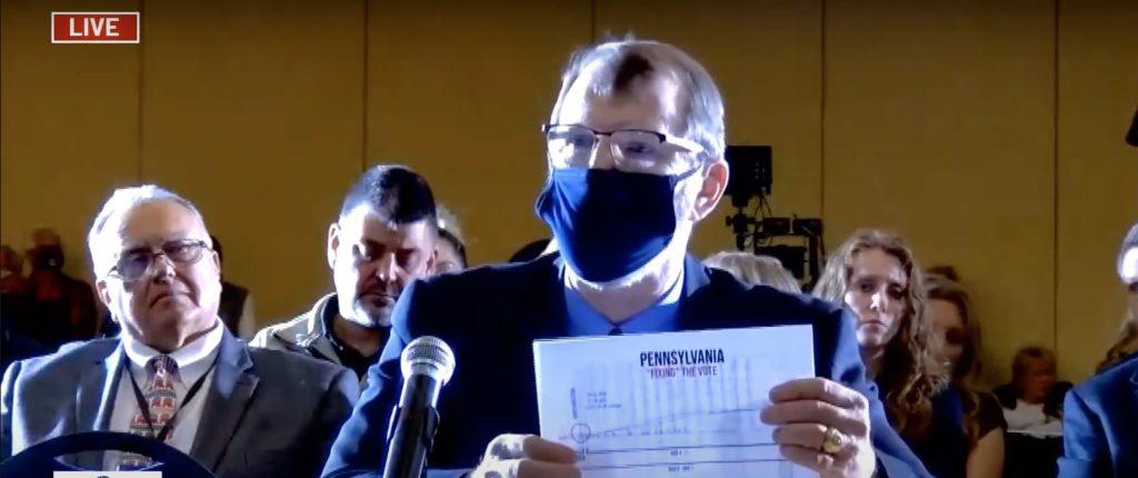 Ret. Col. Phil Waldren testifying at hearings on Nov. 25 (YouTube screenshot) spectator.org