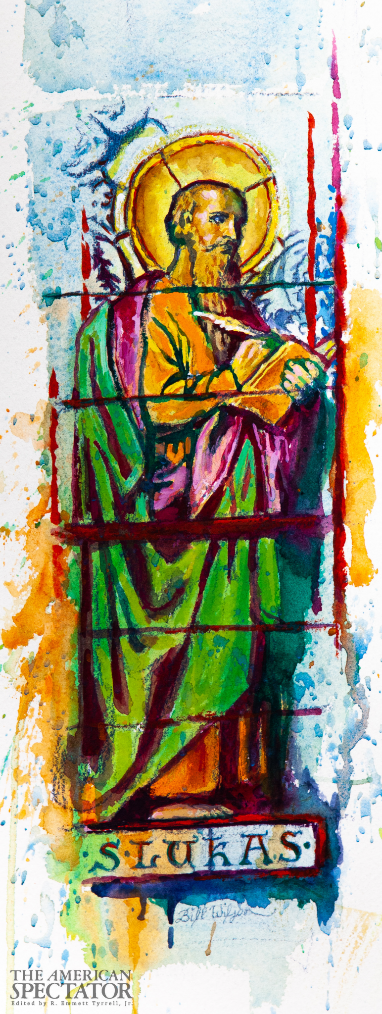 Stained Glass of St. Luke, 2020 (Bill Wilson) spectator.org