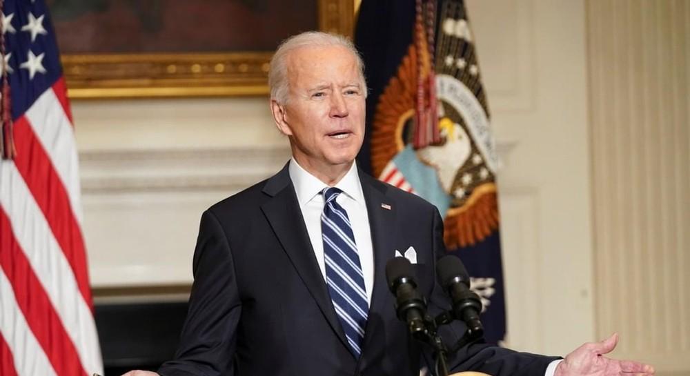 President Joe Biden, illustrating piece on green energy and labor union plans (archna nautiyal/Shutterstock.com) spectator.org