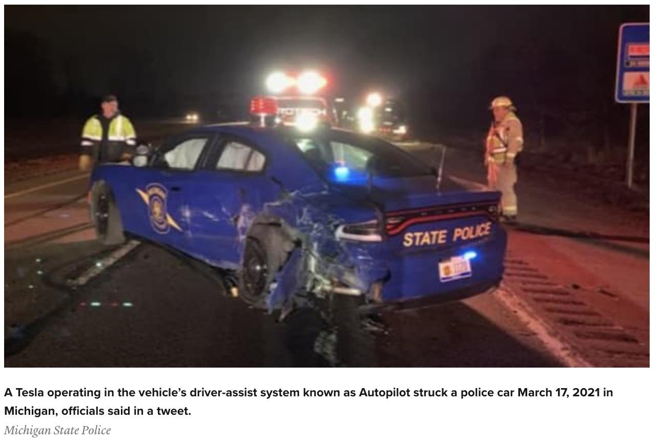 Tesla crash (Michigan State Police) spectator.org