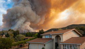"""River Fire"" of Salinas, California, August 2020, illustrating piece on homeowners' insurance (David A Litman/Shutterstock.com) spectator.org"