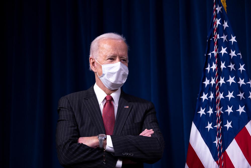 Biden at Department of Defense, Washington, D.C., February 10, 2021, illustrating piece on border crisis (BiksuTong/Shutterstock.com) spectator.org