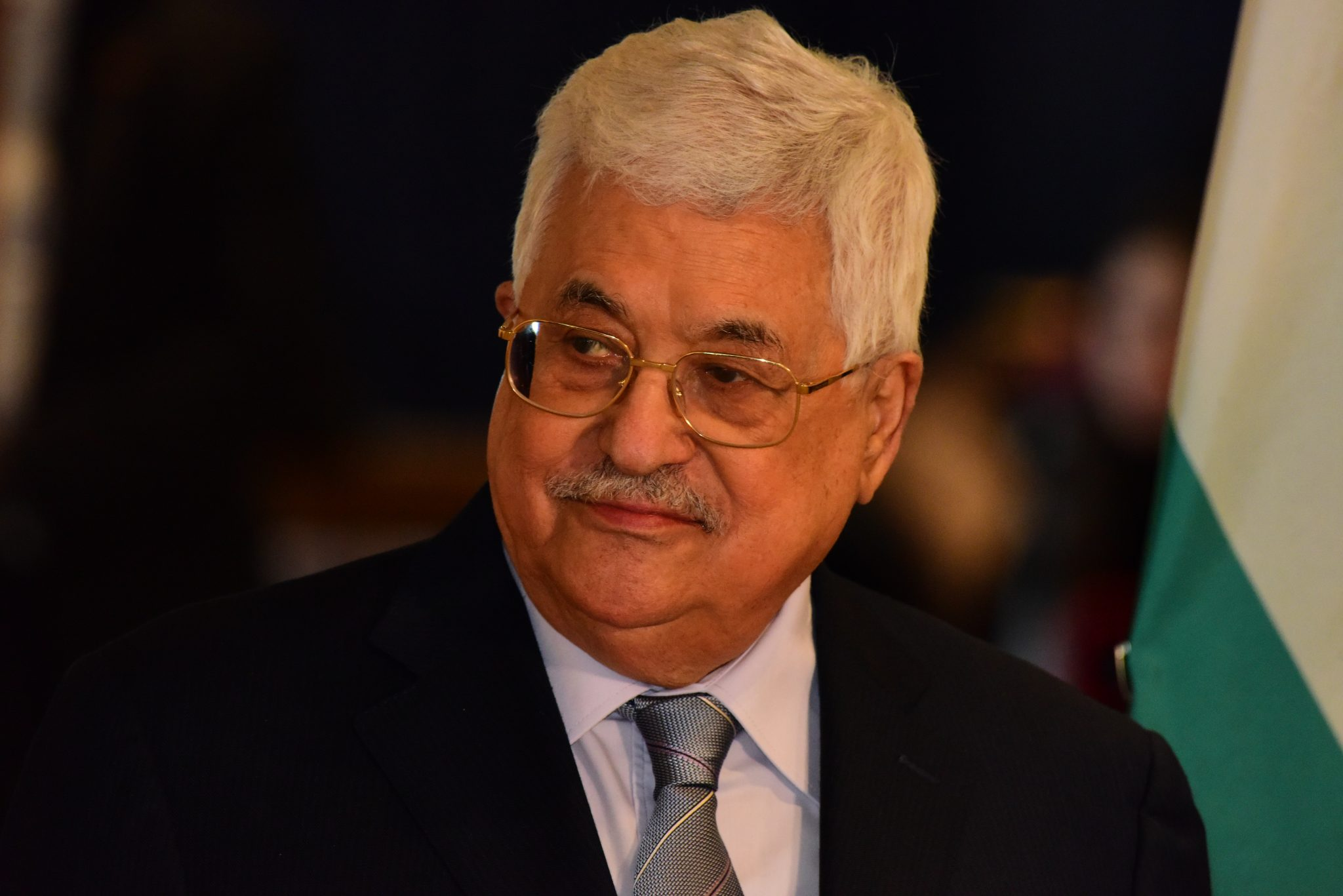 Image of Palestinian Authority President Mahmoud Abbas, illustrating piece on a pro- Palestine author accusing Israel of Holocaust -like offenses (a katz, Shutterstock.com) spectator.org