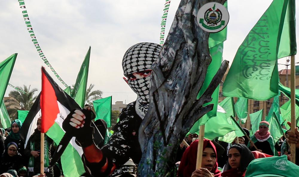 31st anniversary of Hamas rally in Palestine - Abed Rahim Khatib - shutterstock.com - spectator.org
