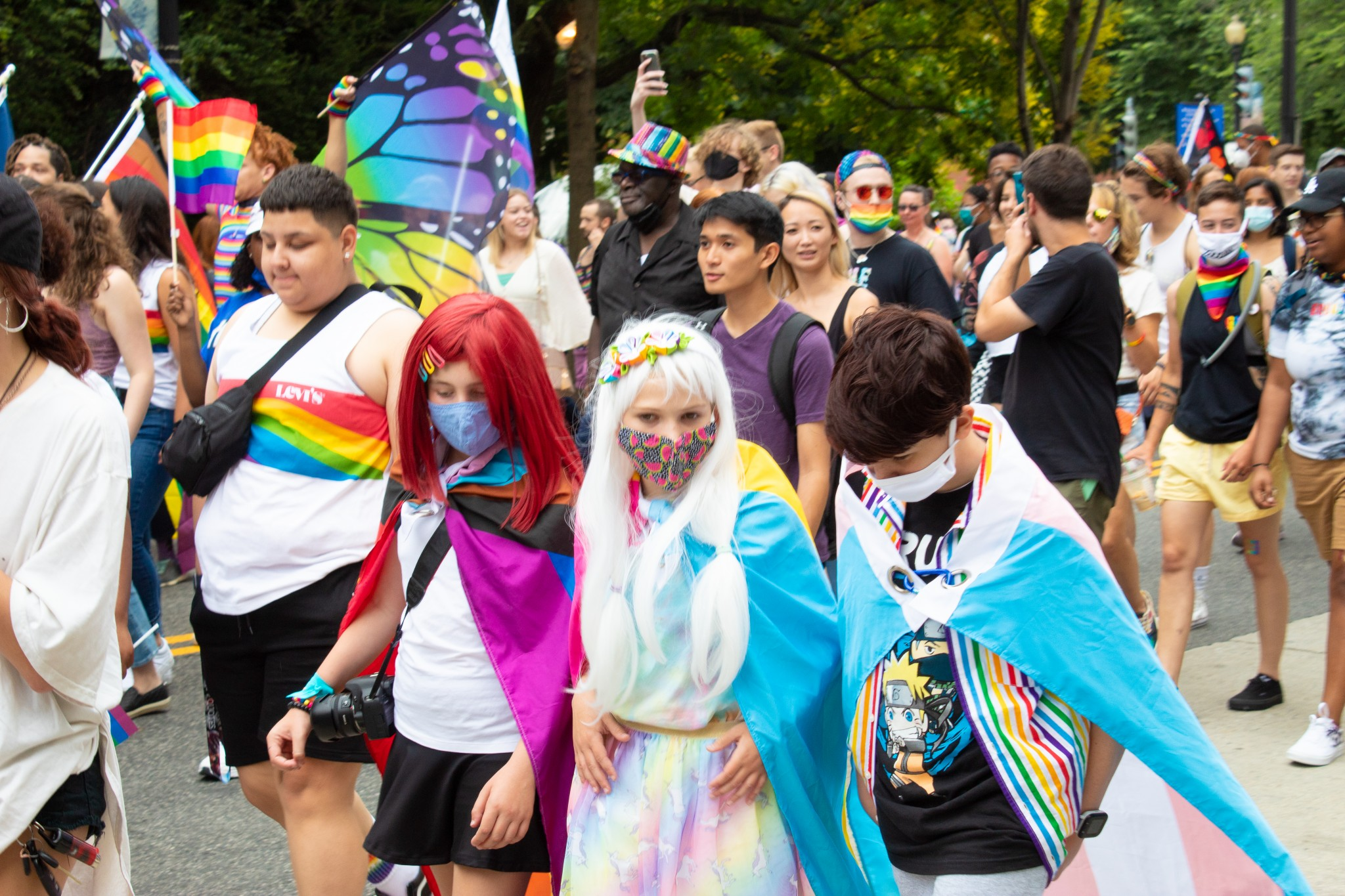 Children who identify as transgender march in Washington, D.C.'s annual Capital Pride Walk & Rally (The American Spectator)