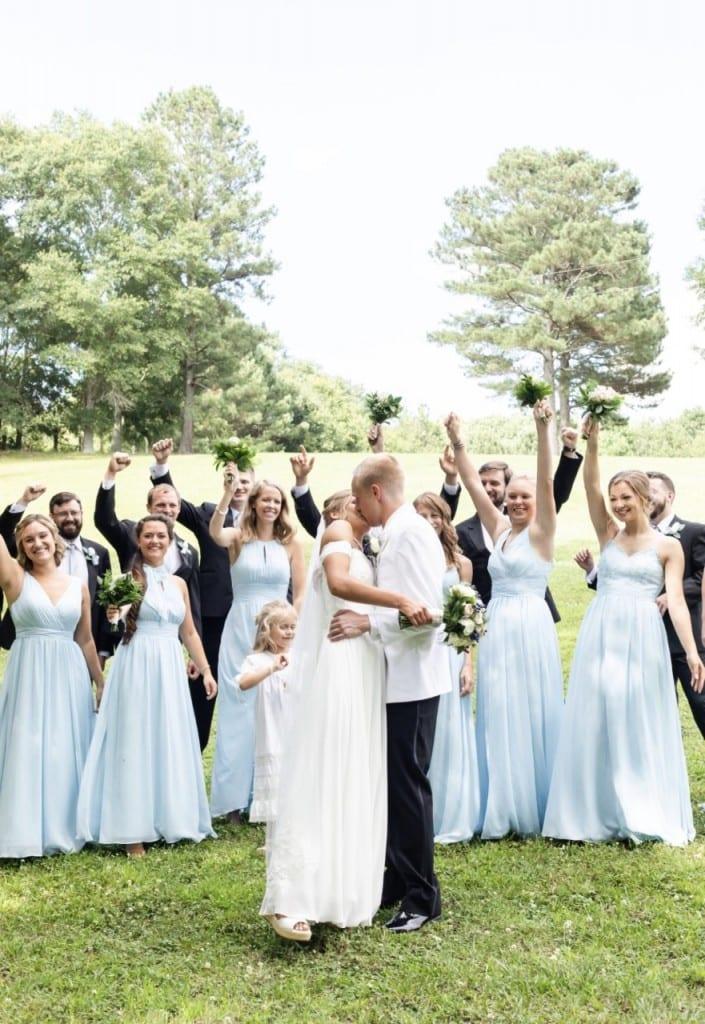 Bride, groom, and wedding party (Katherine Horton) spectator.org