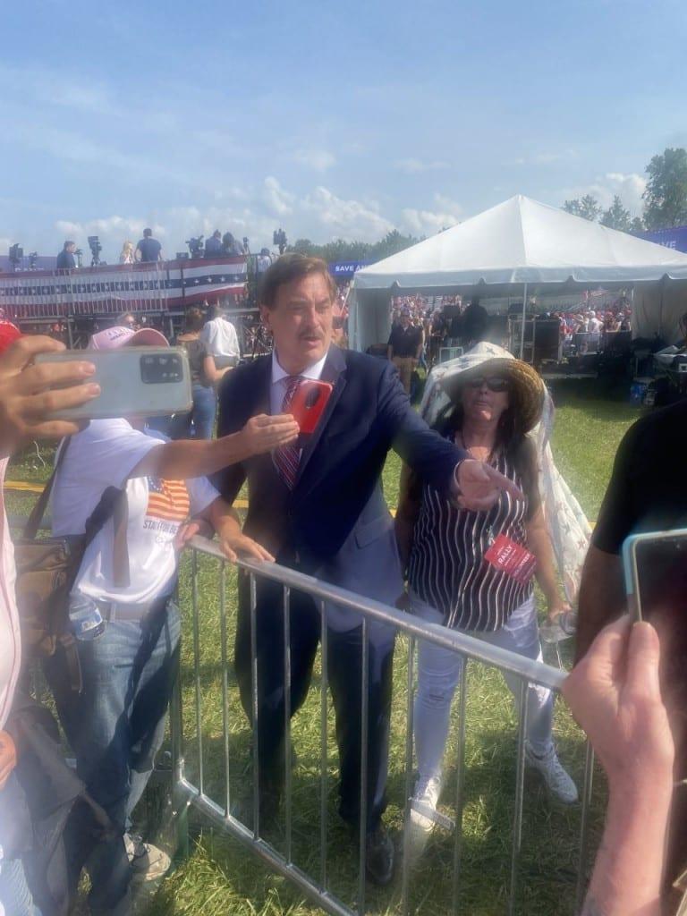 Mike Lindell at Trump rally in Wellington, Ohio, June 26, 2021 (Matt Keener) spectator.org