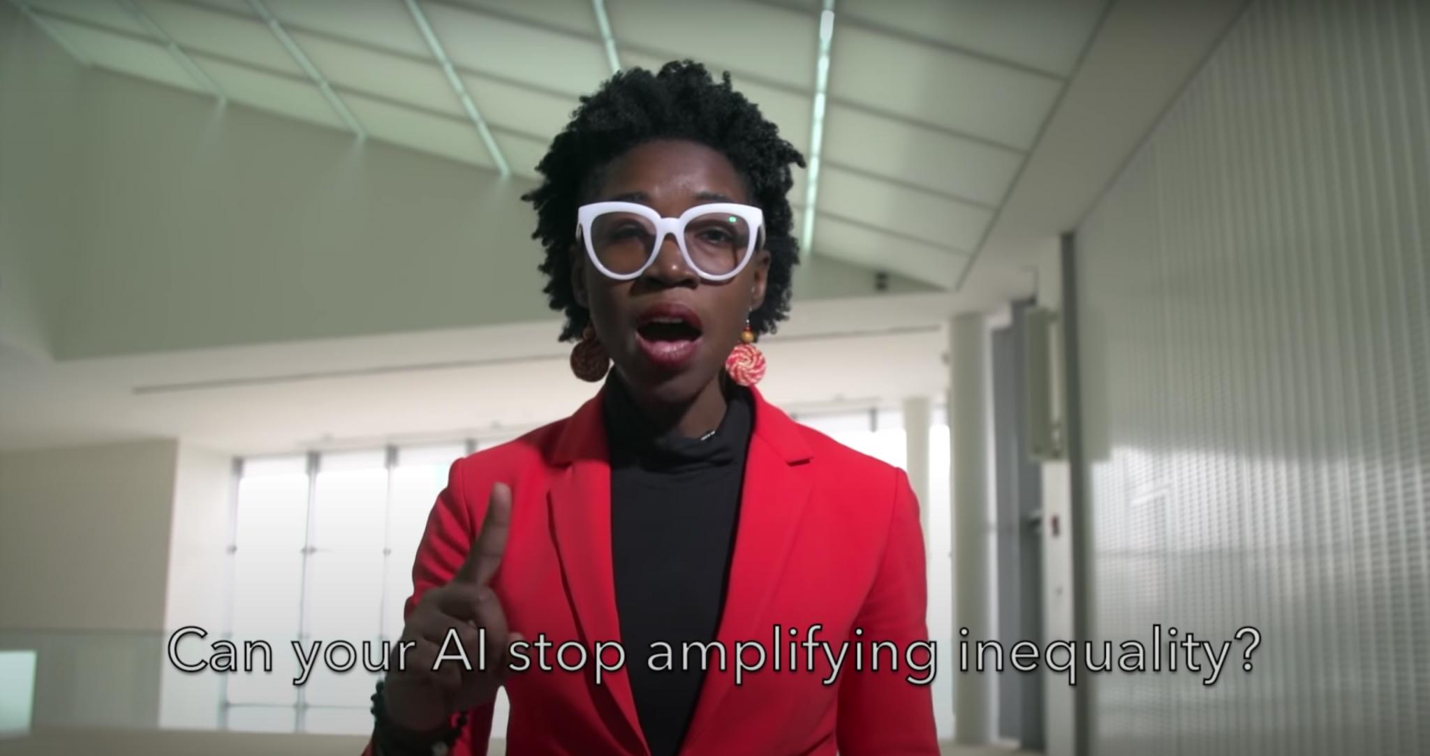 Joy Buolamwini confronts IBM over the biases she believes the company has on March 1, 2019. (Joy Buolamwini/Youtube) spectator.org