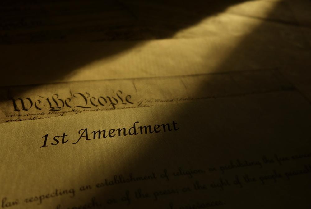 Photo of First Amendment in shadow - zimmytws - shutterstock.com - spectator.org