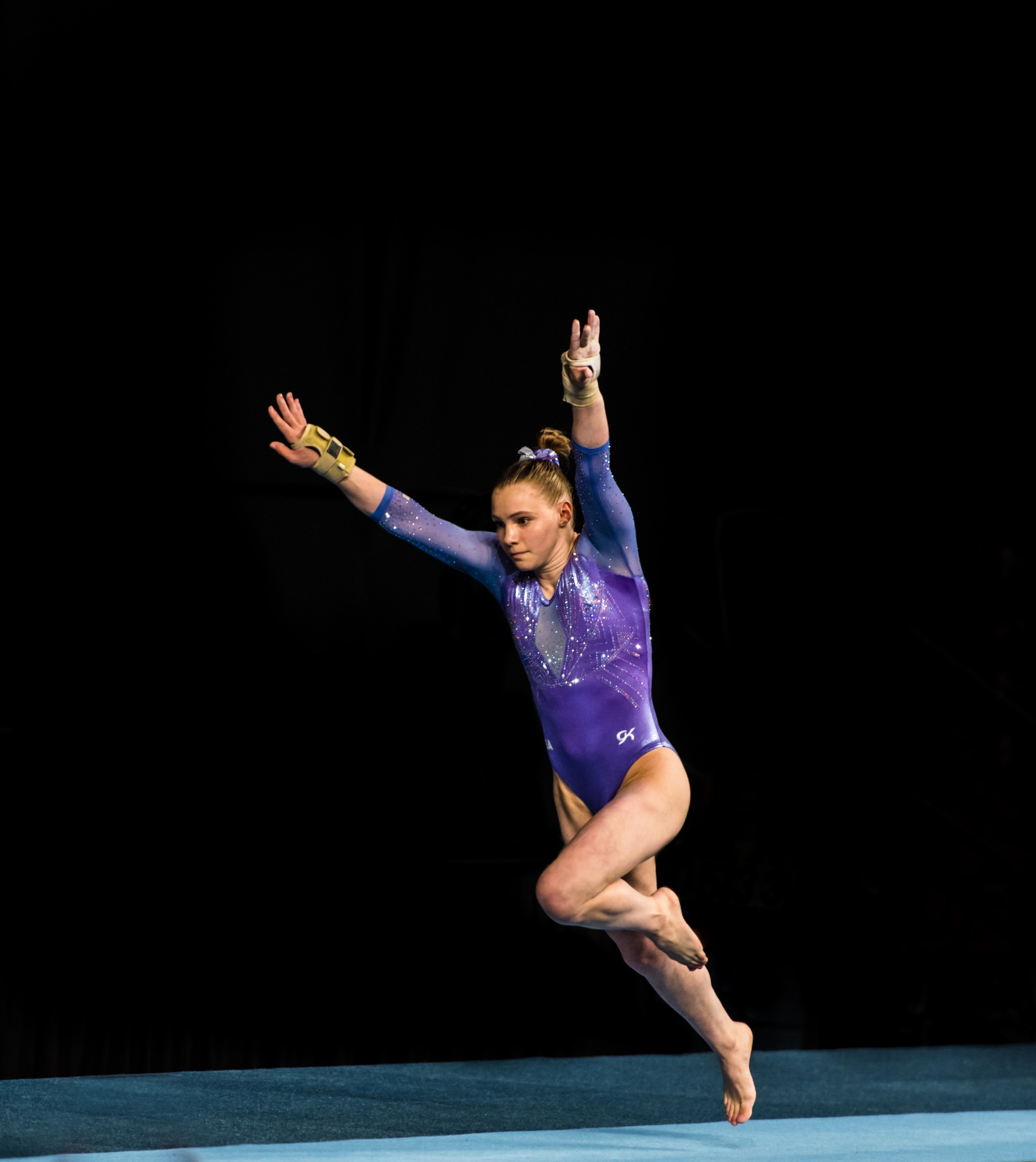 Jade Carey competes in vault in Melbourne, Australia on February 22, 2020. (Alex Bogatyrev/Shutterstock) spectator.org