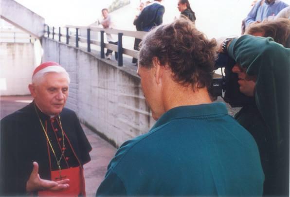 Jack Cashill and then Cardinal Joseph Ratzinger