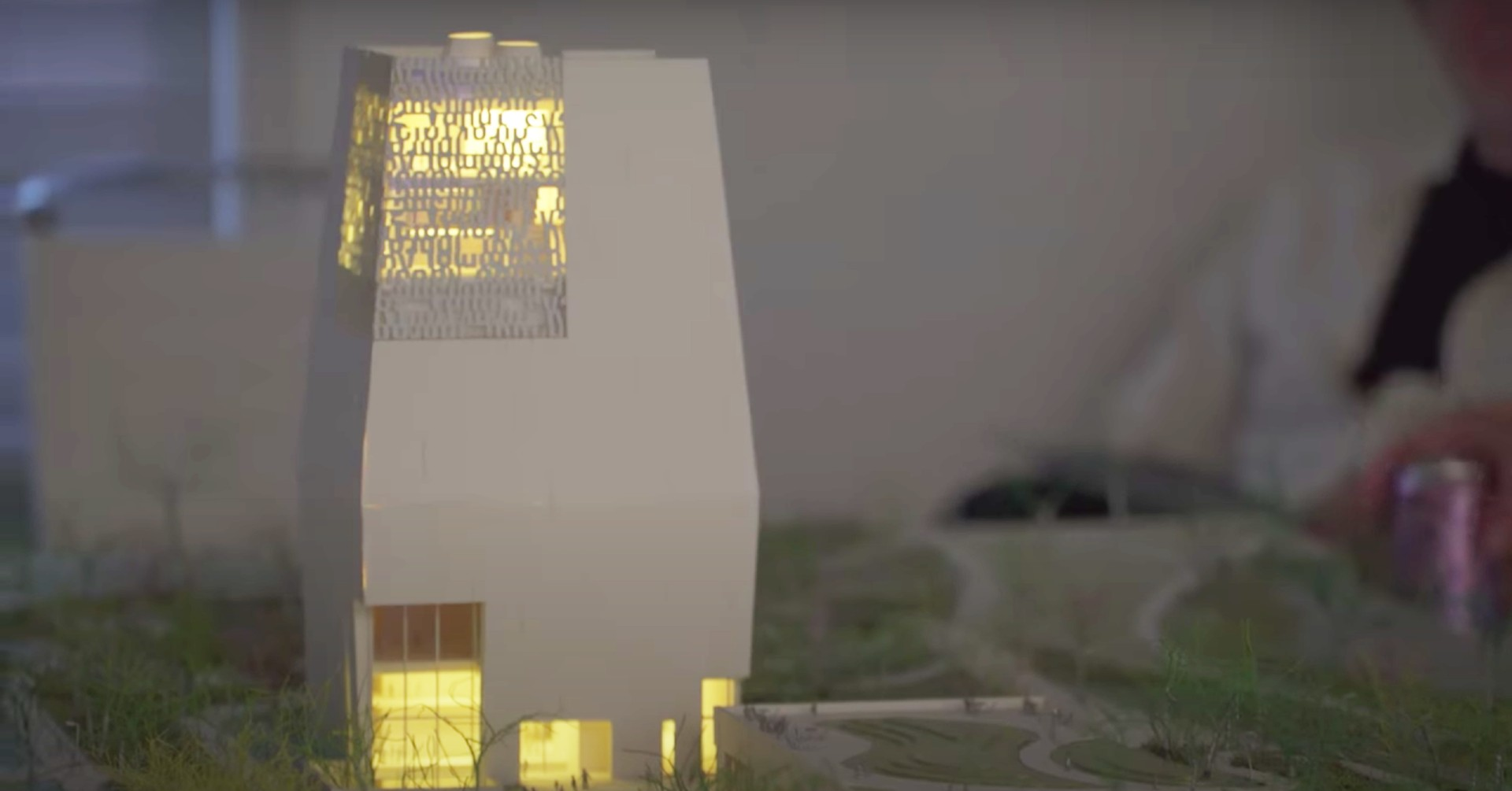 A three-dimensional model of the Obama Presidential Center's museum. (Obama Foundation/Youtube)